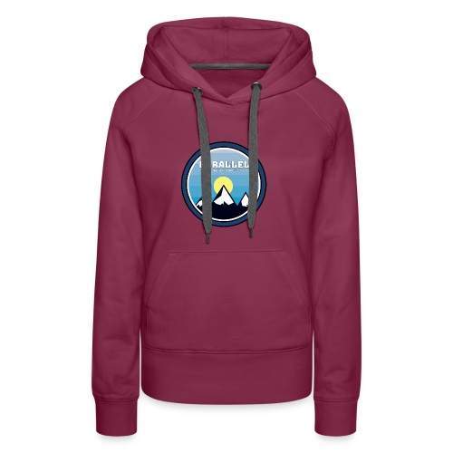 Parallel Mountain Range Badge - Women's Premium Hoodie