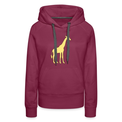 yellow giraffe - Women's Premium Hoodie