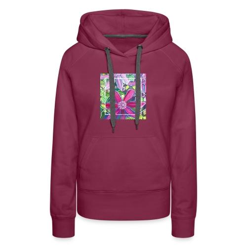 Clematis Watercolor - Women's Premium Hoodie