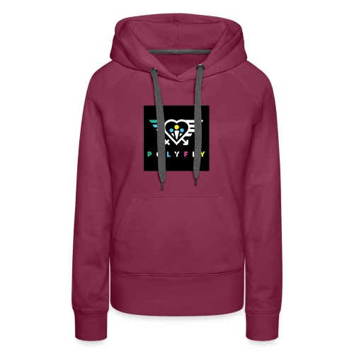 PolyFly Official Logo Wht Color - Women's Premium Hoodie