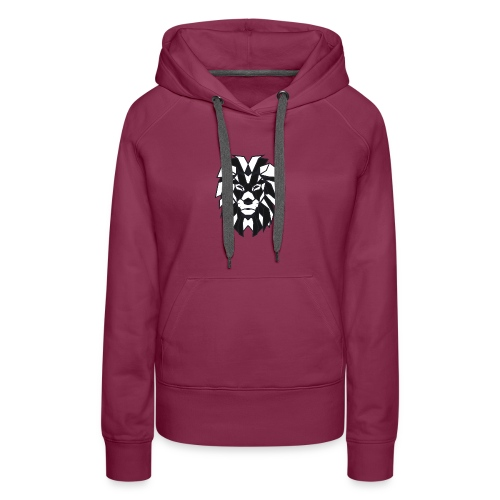 Lion black white - Women's Premium Hoodie