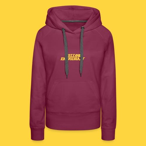 yellow enthusiast - Women's Premium Hoodie