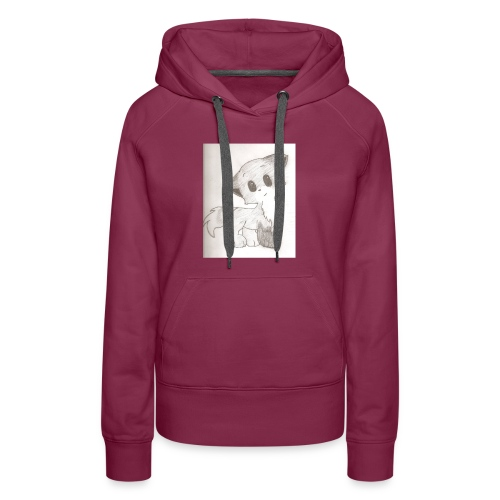 Adorable Drawing Of Anime Fox - Women's Premium Hoodie