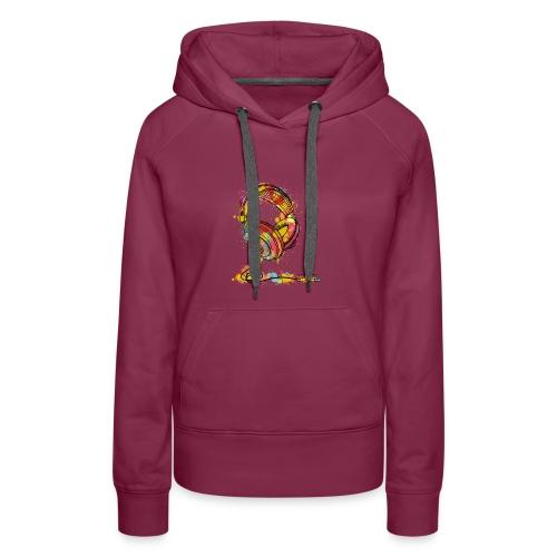 Watercolour Headphone - T-Shirt - Women's Premium Hoodie