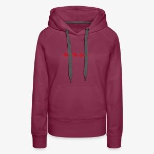 Run The Game Original Long Logo Design - Women's Premium Hoodie