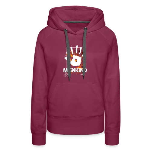Mankind splatter design hand - Women's Premium Hoodie