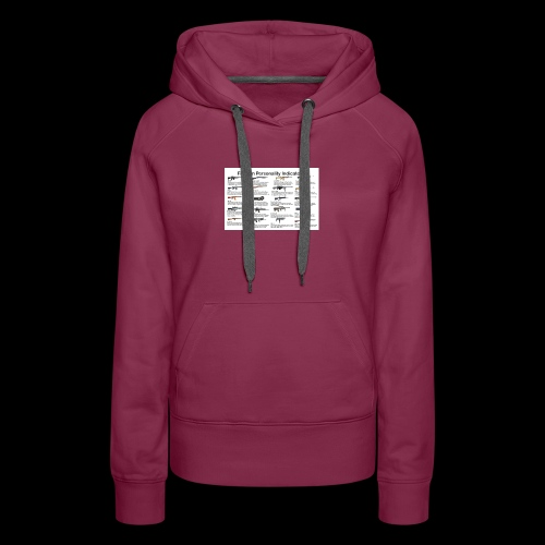 Pick one gun then read the personality discription - Women's Premium Hoodie