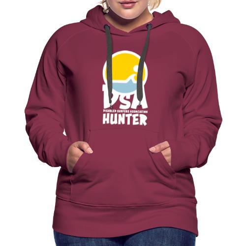 Disabled Surfers Association Hunter - Light Logo - Women's Premium Hoodie