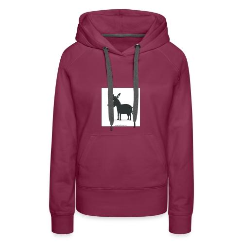 Awesome donkey animated - Women's Premium Hoodie