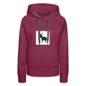 Awesome donkey animated - Women's Premium Hoodie
