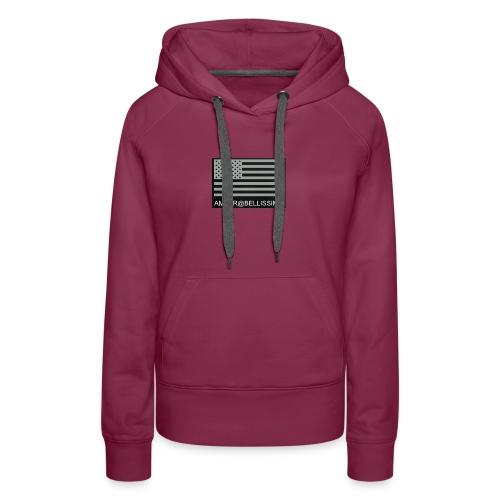 Grey American flag amber@bellissimobeautybar - Women's Premium Hoodie