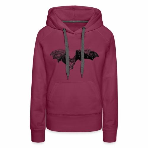 Tri-Colored Bat - Women's Premium Hoodie