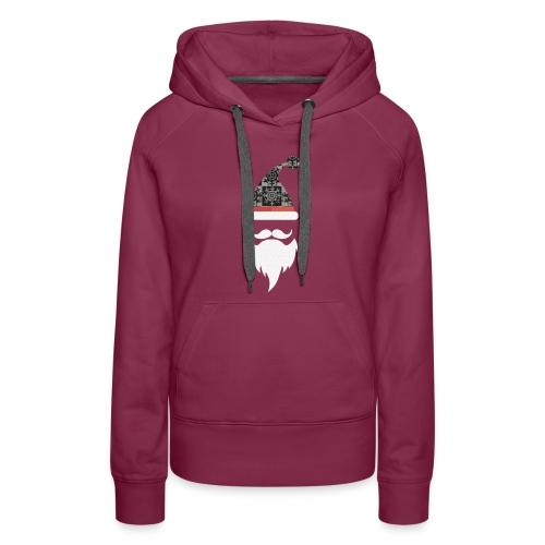 Santa hats, moustache and beards. Christmas Men - Women's Premium Hoodie