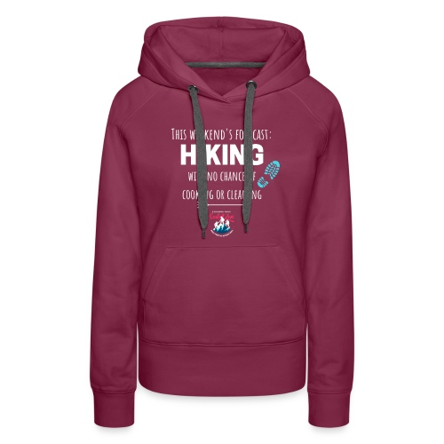 Forecast for the Weekend: Hiking - Women's Premium Hoodie