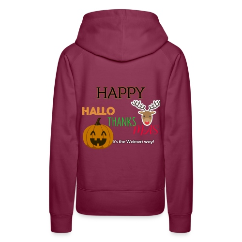 HAPPY HALLO-THANKS-MAS - Women's Premium Hoodie