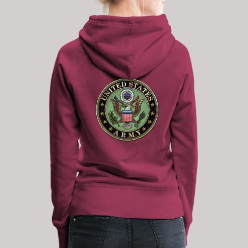 Worn US Army Seal - Women's Premium Hoodie