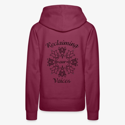 Reclaiming Our Voices - Women's Premium Hoodie