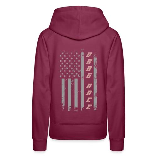 American Drag Racer Flag - Women's Premium Hoodie