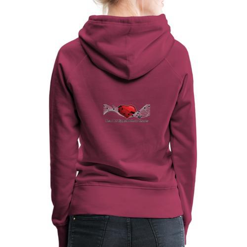Lg transparent logo on back HOH Show Chorus - Women's Premium Hoodie