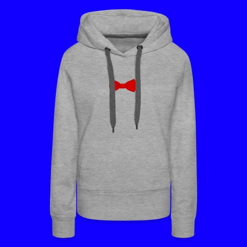 red bow tie - Women's Premium Hoodie