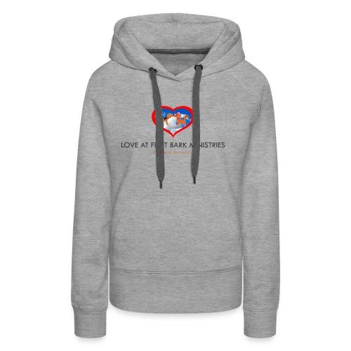 loveatfirstbarklogo - Women's Premium Hoodie