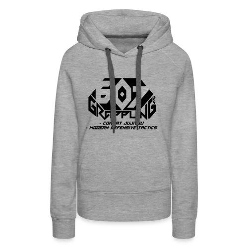 607 Grappling Black Logo - Women's Premium Hoodie