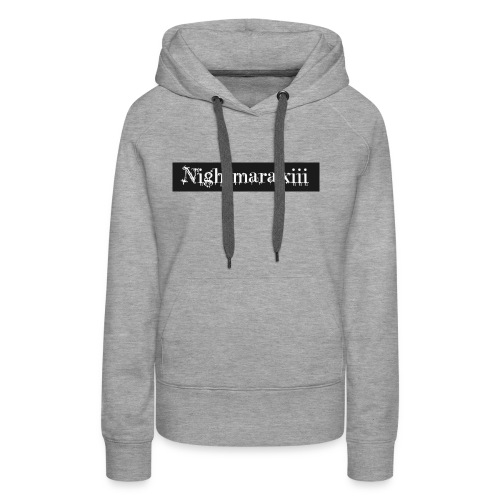 Nightmara logo written - Women's Premium Hoodie