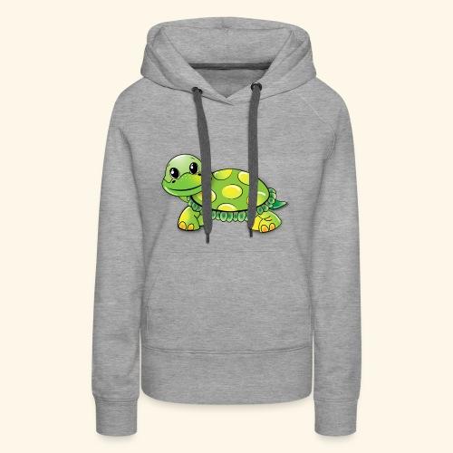 Green turtle cartoon - Women's Premium Hoodie