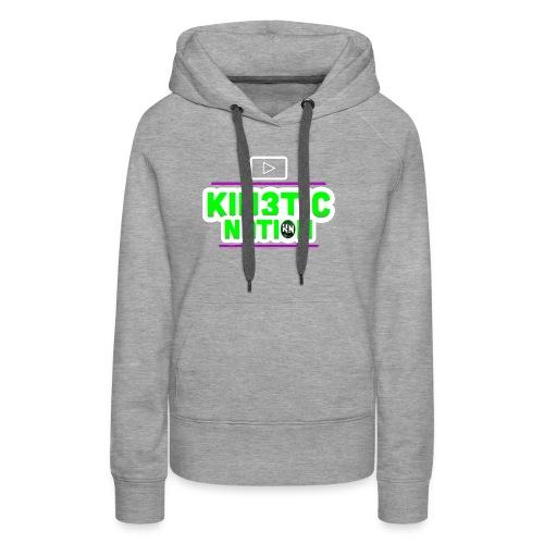 Green Kin3ticNation logo - Women's Premium Hoodie