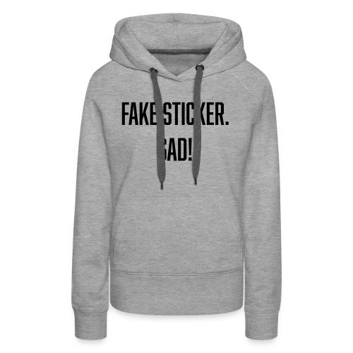 fake sticker - Women's Premium Hoodie