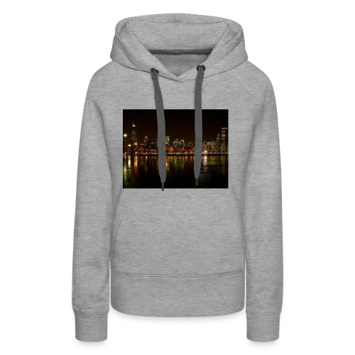 chicago skyline - Women's Premium Hoodie