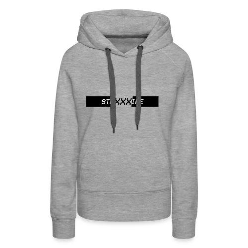Stripe - XXX Logo T-shirts and Hoodies. (BLK) - Women's Premium Hoodie
