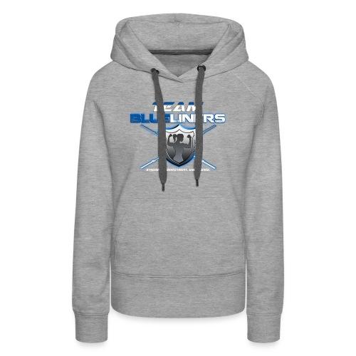 Team blue liners female logo - Women's Premium Hoodie