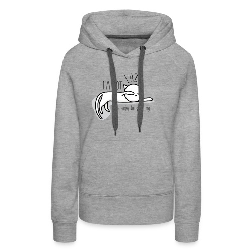A lazy cute cat - Women's Premium Hoodie