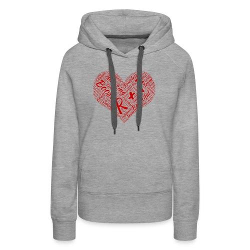 R+F Red Heart - Women's Premium Hoodie