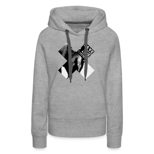 3D Save The Rhino (Black and White) - Women's Premium Hoodie