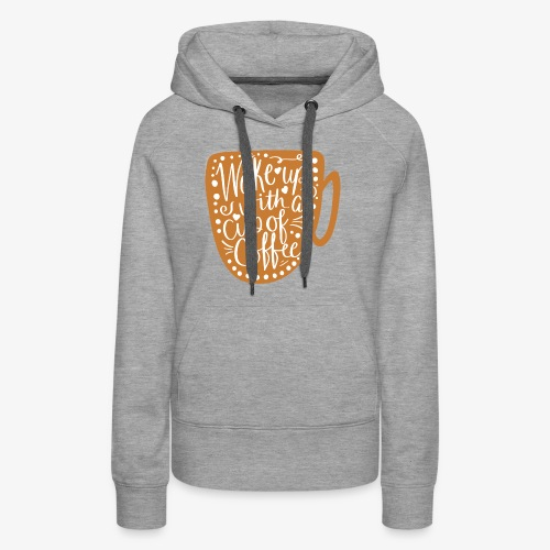 Coffee Cup with White Center - Women's Premium Hoodie