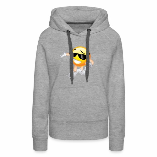 Cool Smiling Face with Sunglasses - Women's Premium Hoodie