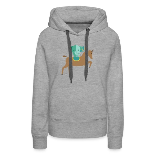 Unicorn and elephant - Women's Premium Hoodie
