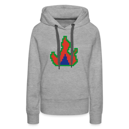 Cyber Blaze Design #1 - Women's Premium Hoodie