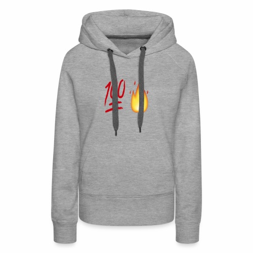 Fire & 100 Design - Women's Premium Hoodie