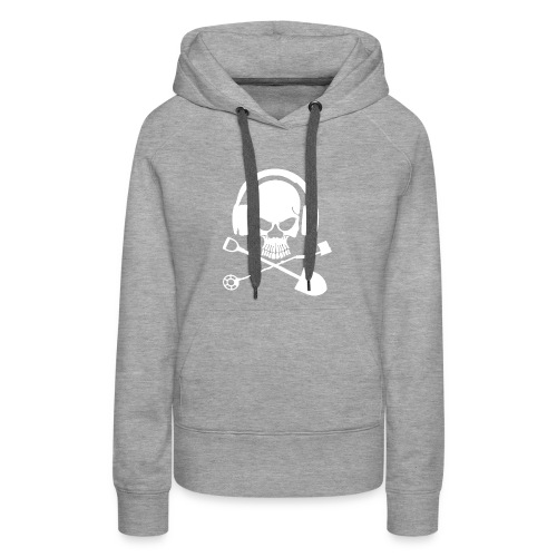 Silver Pirate Logo White LARGE TRANS - Women's Premium Hoodie