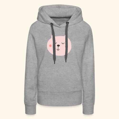 Cute Pink cat - Women's Premium Hoodie