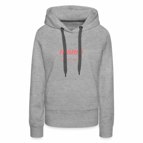 Mama loves JESUS and expresso apparel - Women's Premium Hoodie
