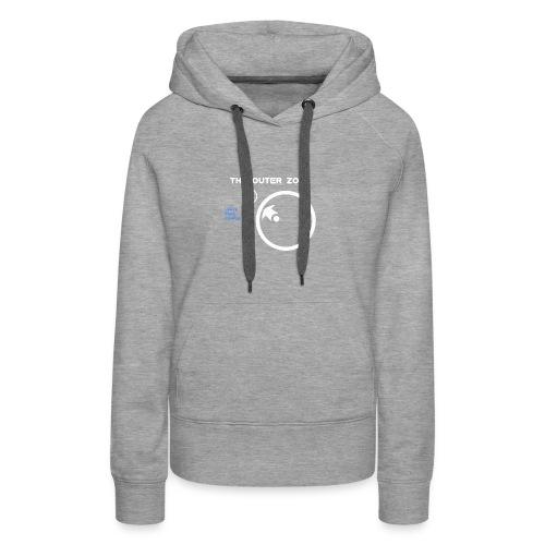 The Outer Zone Logo White - Women's Premium Hoodie