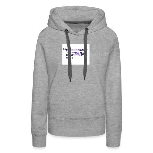 Do something better - Women's Premium Hoodie