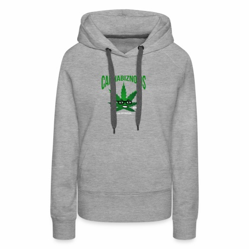 Cannabiznoids Logo with Text - Women's Premium Hoodie