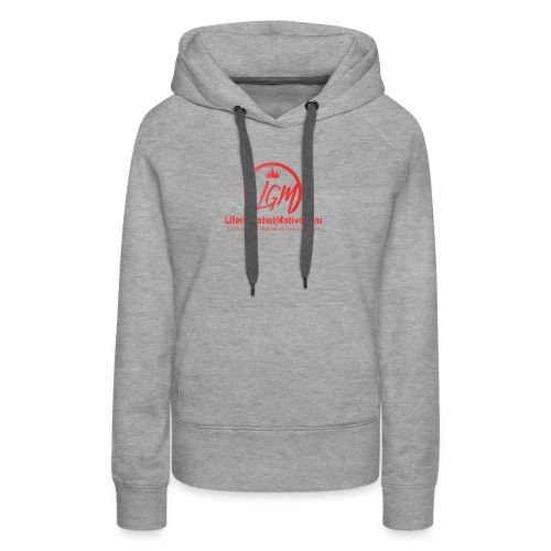 LifesGreatestMotivations Red - Women's Premium Hoodie