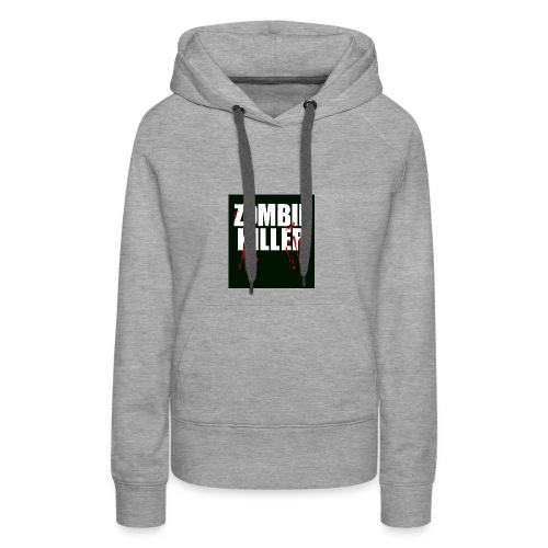zombie killer shirt green - Women's Premium Hoodie