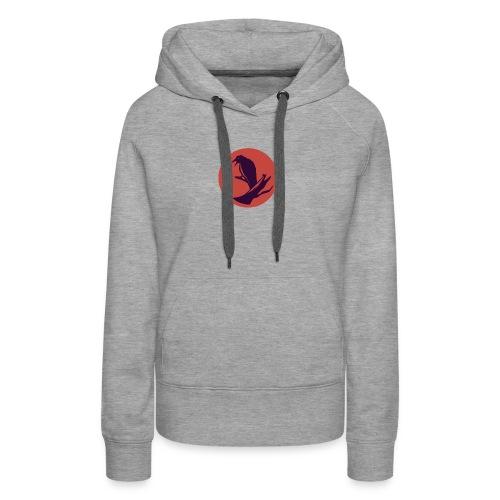 0d648f1f545ad913c20d7d6447d43449 raven circle icon - Women's Premium Hoodie